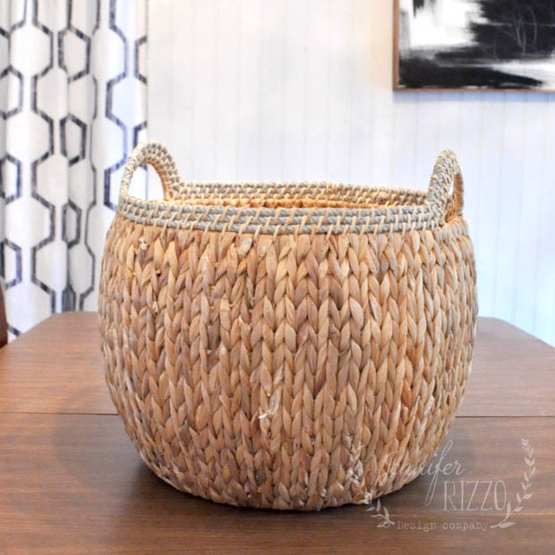 Boho basket before painting