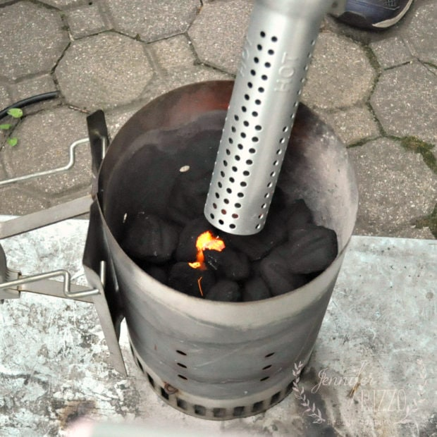 Using the ElectroLight Fire Starter with a Chimney starter