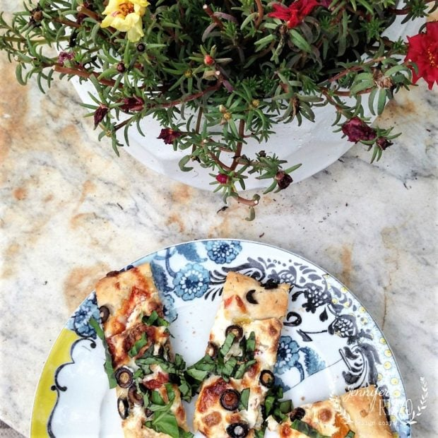 Herbed crust flat bread recipe