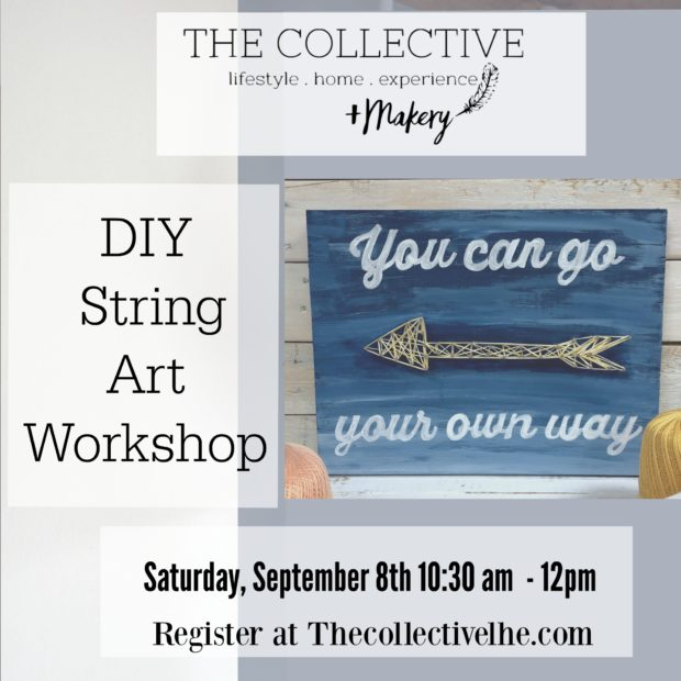 DIY String Art Class at The Collective lhe + Makery in Lisle,IL