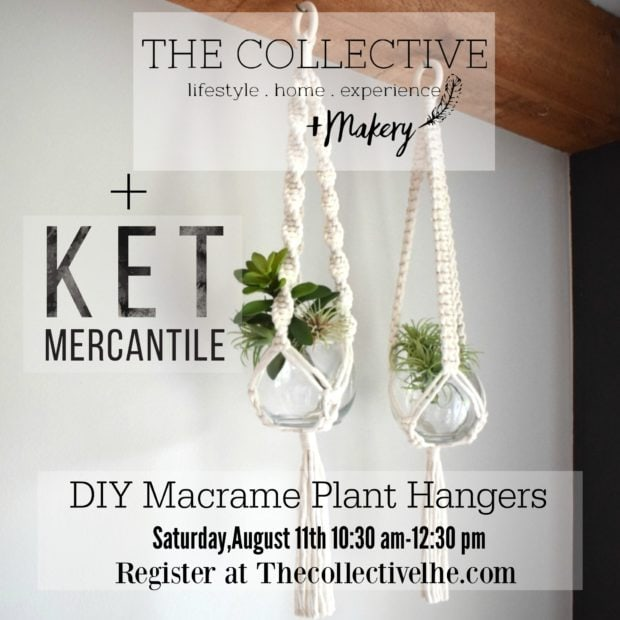 Macrame workshop with Ket Mercantile at The Collective lhe + Makery