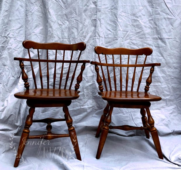Old Ethan Allen furniture, give the chairs a fresh new look with paint!
