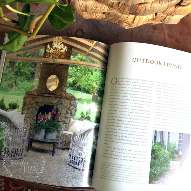 A look at French Country Cottage Decorating Book and using flowers in decor