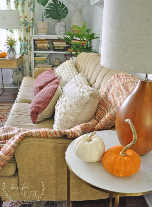 pumpkins as simple decor Jennifer Rizzo