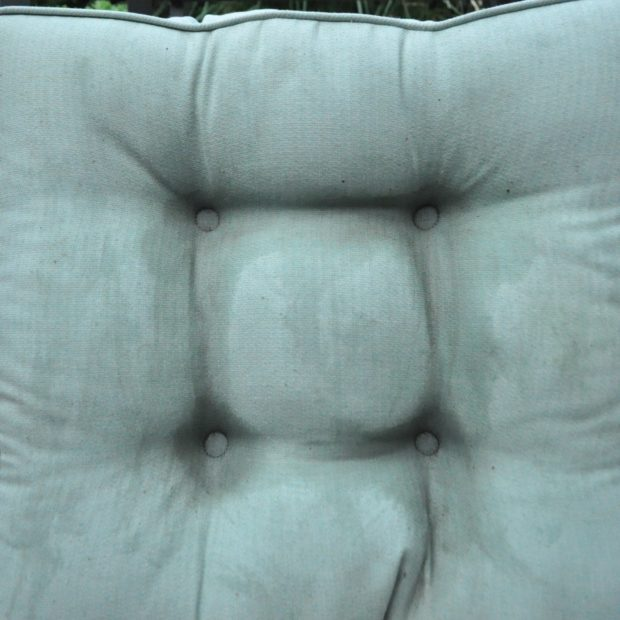 Steam cleaned outdoor cushion. Make outdoor furniture last longer