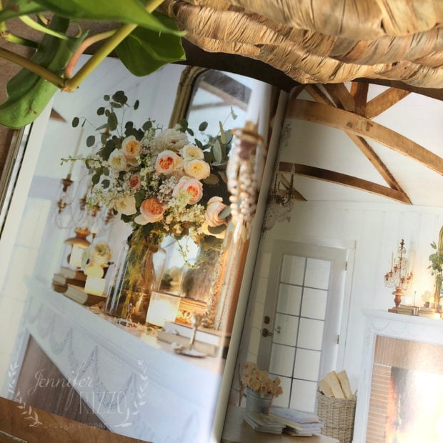 Inside peek at The French Country Cottage Decorating Book. Decorating with flowers