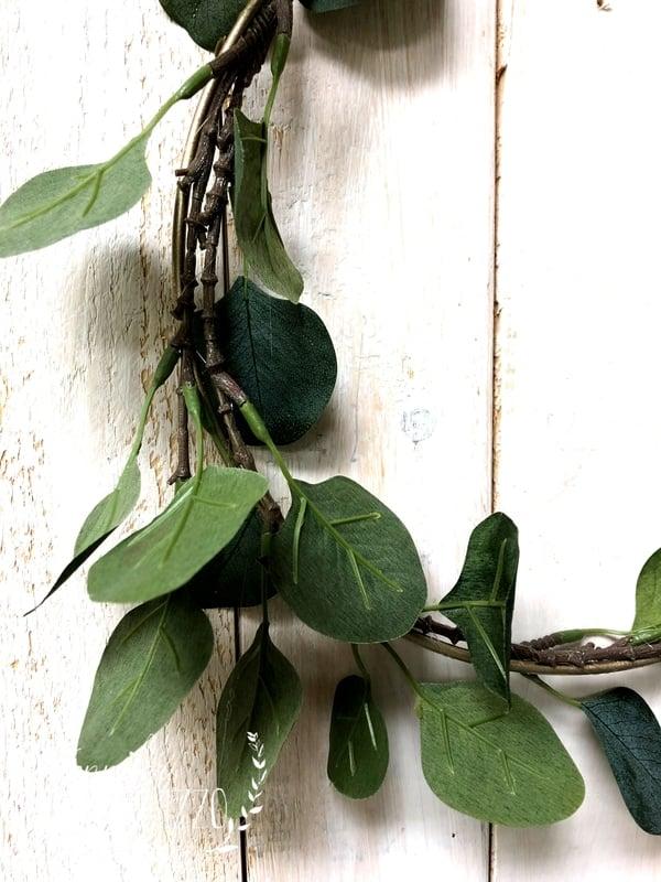 Easy DIY Faux Eucalyptus Wreath