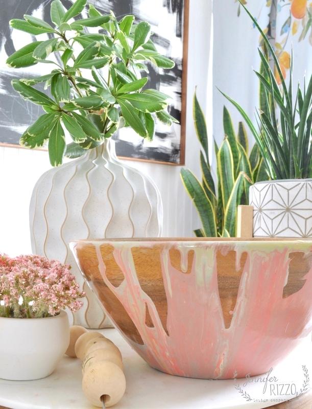 DIY Paint Poured Boho Bowl