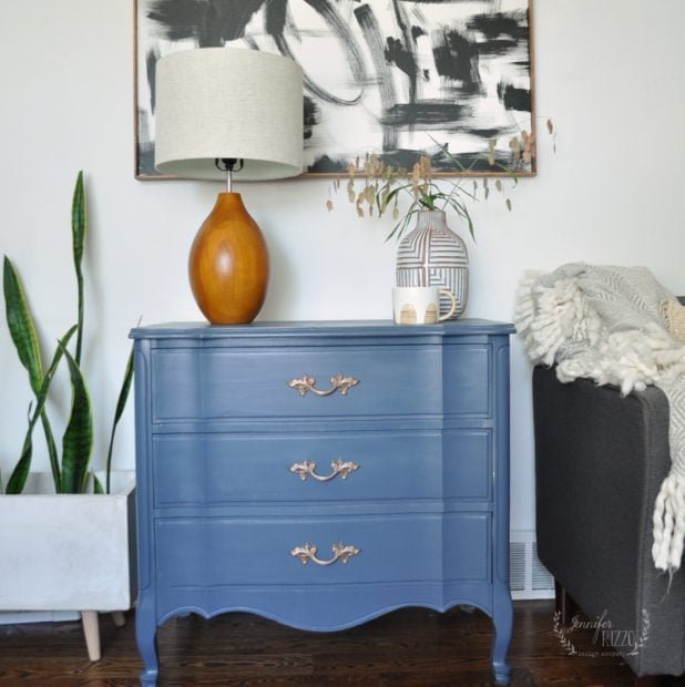 Give a vintage dresser a new look with a paint sprayer.