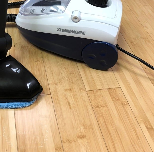 Clean floor after steam cleaning