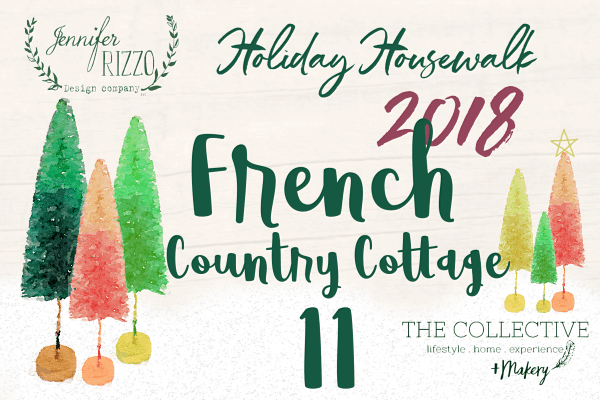 French Country Cottage Holiday Housewalk 2018