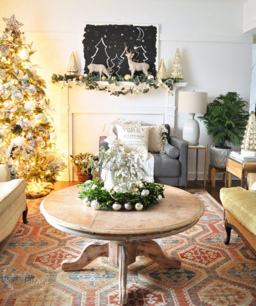 Jennifer Rizzo 2018 holiday Christmas living room