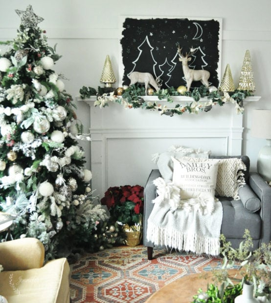 Jennifer Rizzo holiday living room decor