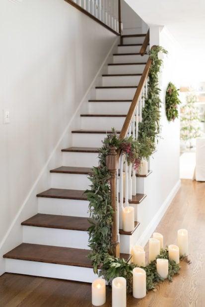 Julie Blanner stairway Holiday Housewalk 2018