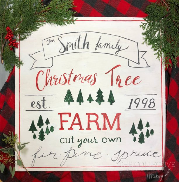 DIY Christmas tree farm sign workshop from The Collective lhe and makery