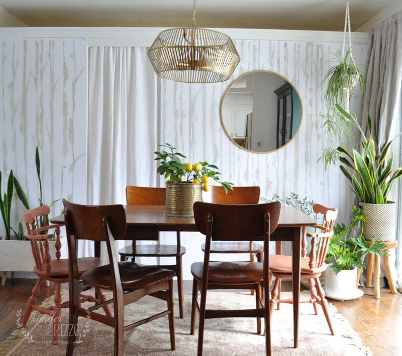Dining area with MidCentury Modern inspired Lighting Jennifer Rizzo