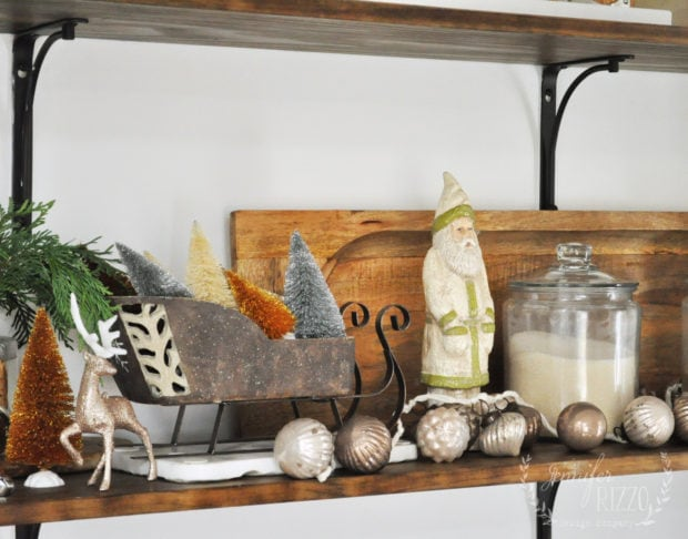 Open shelf styling idea