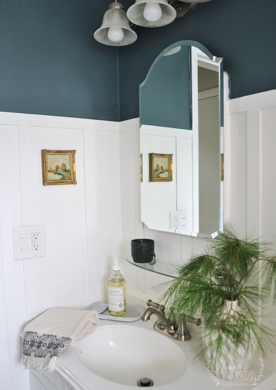 Jennifer Rizzo Dark Green Bathroom