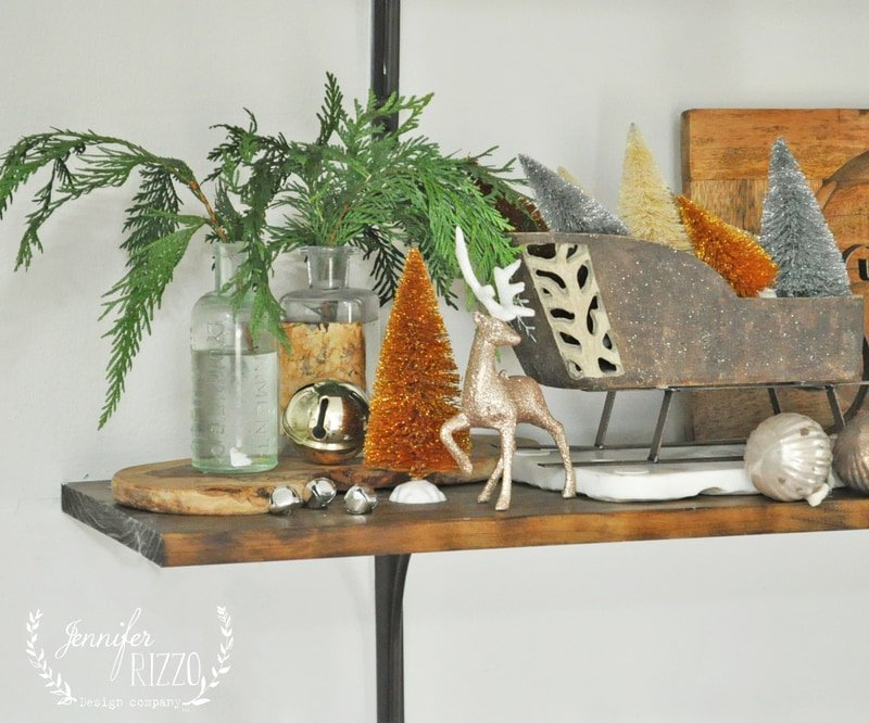 Open Shelving Holiday Touches