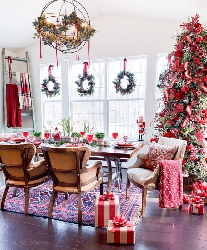 Christmas sunroom decorating idea Louisa Craven