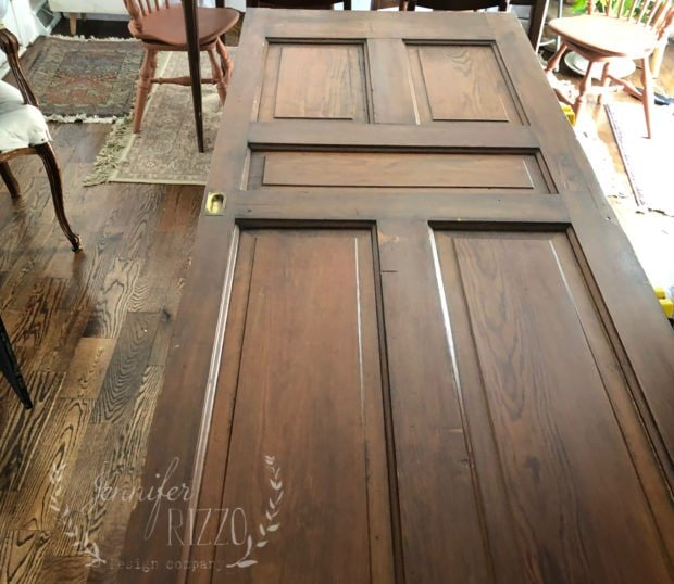 Adding a vintage door with barn door sliders