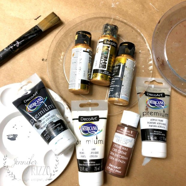 Supplies to paint DIY Abstract Art Jennifer Rizzo