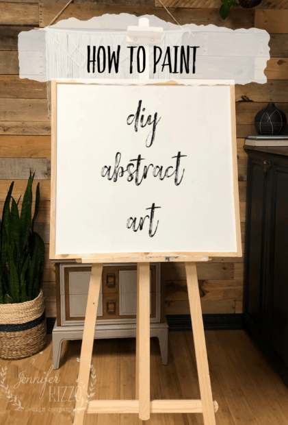 How to paint DIY abstract art Jennifer Rizzo