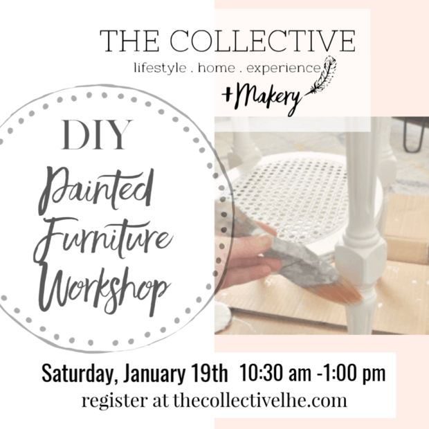 DIY furniture painting workshop at The Collective lhe +Makery