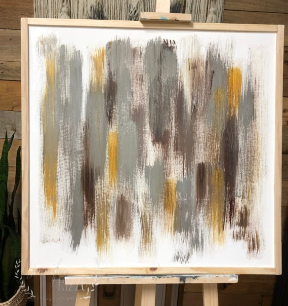 Under layer colors for an abstract painting Jennifer Rizzo