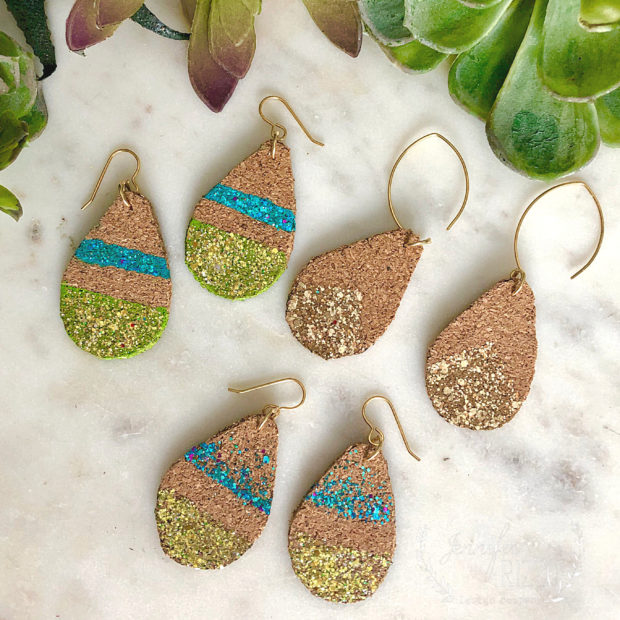 Make these easy DIY cork teardrop earrings for a cute accessory
