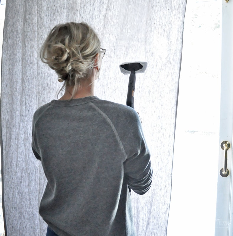 Remove Wrinkles with Steam from Drapery and Curtains
