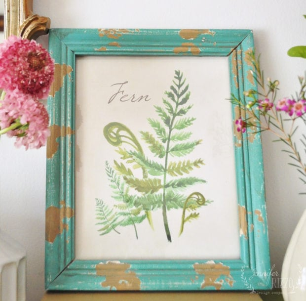 Free botanical fern printable Jennifer Rizzo