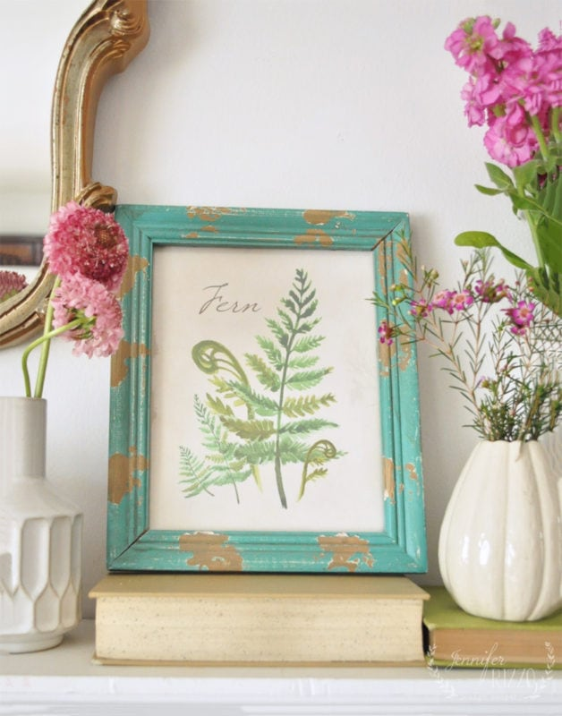 Free fern printable for spring from Jennifer Rizzo