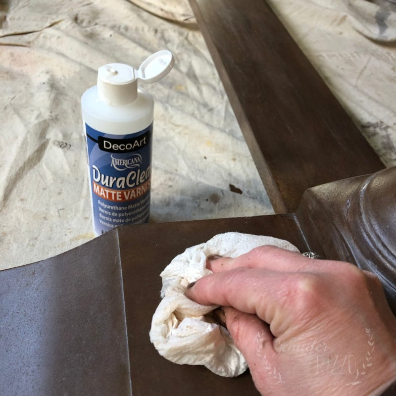 Add sealer to a painted kitchen table look