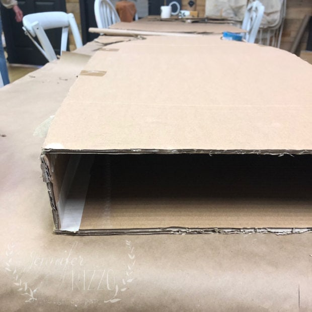 Construct a cardboard vase as a craft from extra boxes