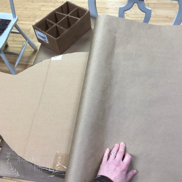 Glue paper onto cardboard to cover tape Jennifer Rizzo