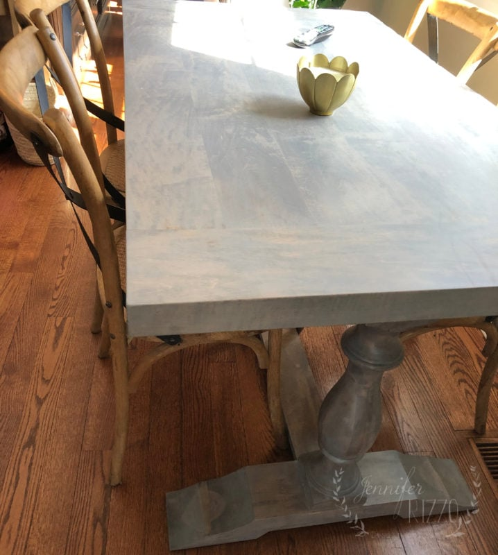 Kitchen table before paint and glaze by Jennifer Rizzo