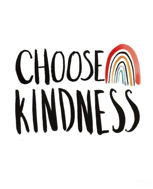 Choose kindness rainbow free printable with wood slat DIY sign tutorial
