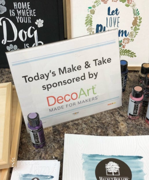 Make and take by DecoArt and Walnut Hollow