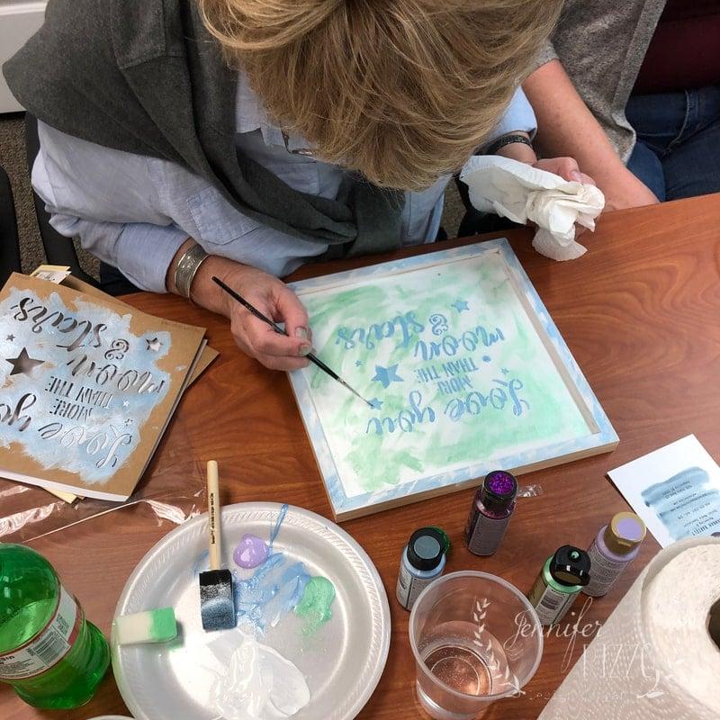 Teaching a Stencil Workshop at FaveCrafts