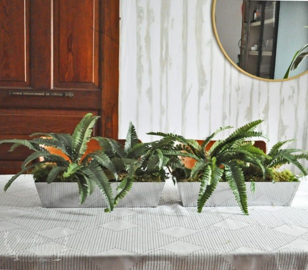 Make easy faux fern planters