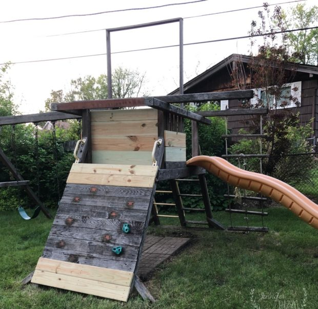 Playset reno with replaced boards