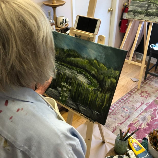 Plein air painting workshop at The Collective lhe +Makery
