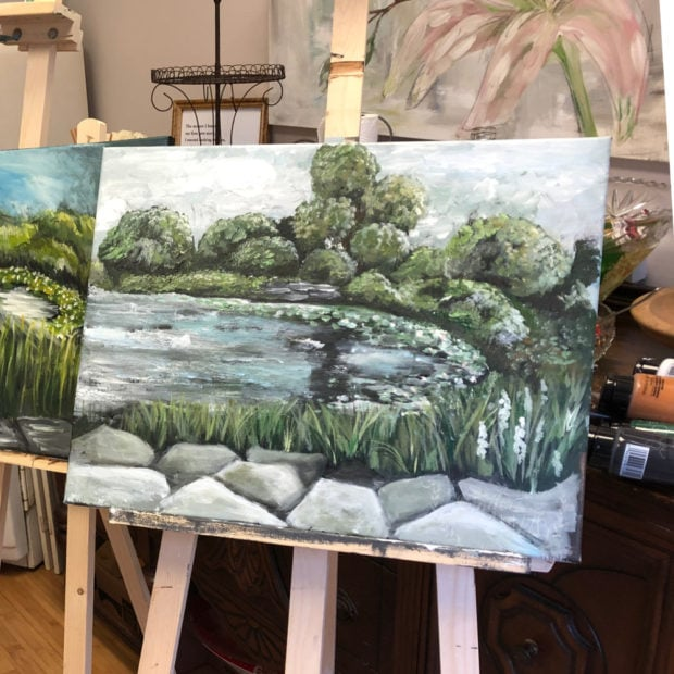 Landscape painting by Jennifer Rizzo