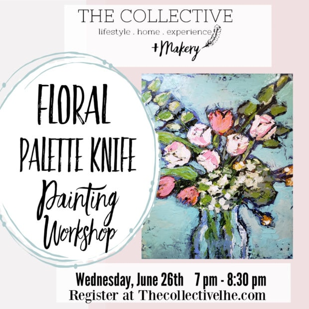 Palette knife painting at the Collective lhe + Makery