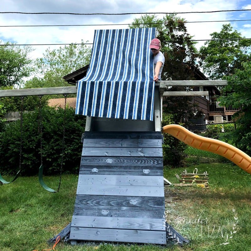 Adding a New Fabric Canopy for a Playset