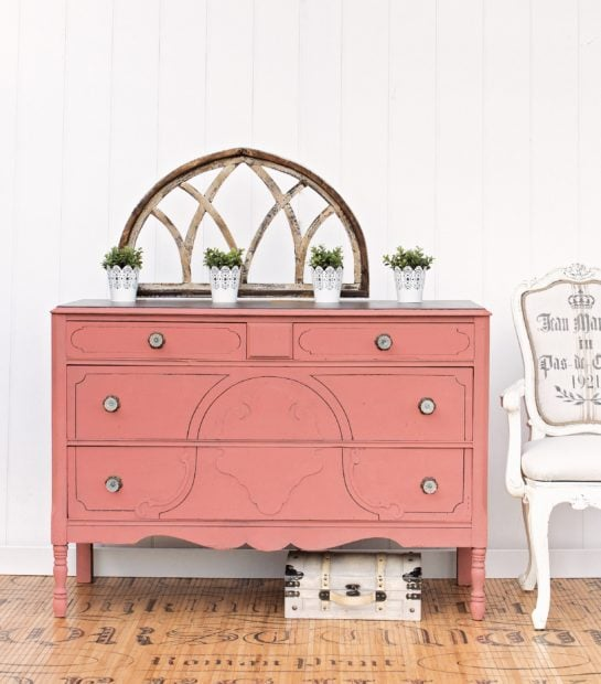 Painted dresser by Girl in the Garage Amazing Furniture Makeovers book