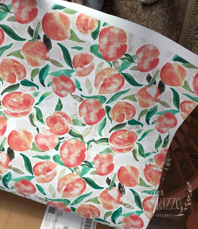 Watercolor Peach Removable Wallpaper in the Kitchen