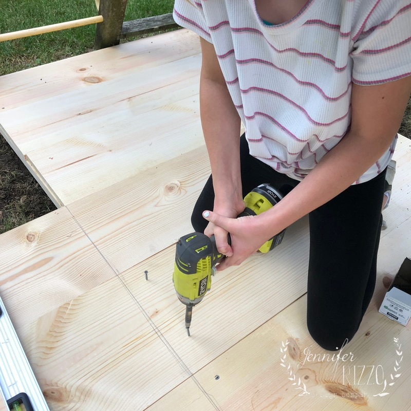 Building a Playset Lower Deck
