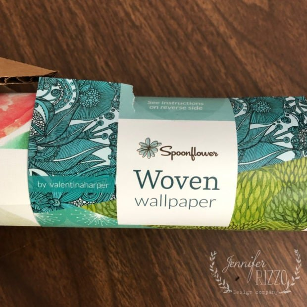 Woeven wallpaper by spoonflower Jennifer Rizzo